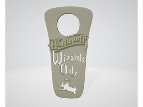 """Wizards Only"" Hufflepuff (New Version) - Harry Potter ""do not disturb"""