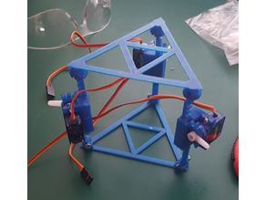 3DOF servo actuator test jig