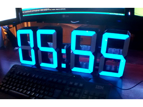 XL 7-segments Digital Clock/Thermometer