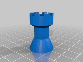 Chess rook - test with magnet hole