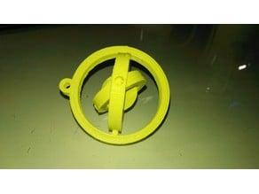 Customizable gyroscope keyring