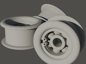 Tiny Pulley GT2 - 623zz bearing - seger ring