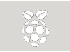 Raspberry Pi | Logo | DXF | SKP