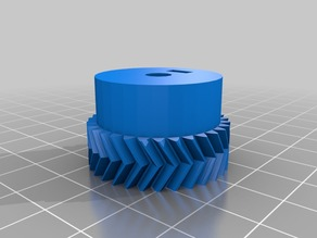 My Customized Parametric Herringbone Gear Set for Stepper Extruders 2
