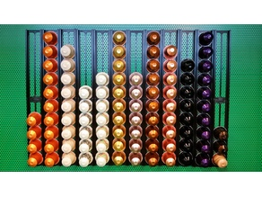 Magnetic Nespresso capsule wall holder