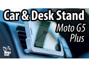 Car and Desk Stand for Moto G5 Plus (Landscape)