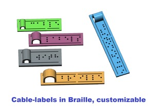 Cable-label in Braille, customizable