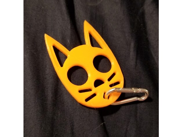 Black Cat Self Defense Keychain By Anthonycottington