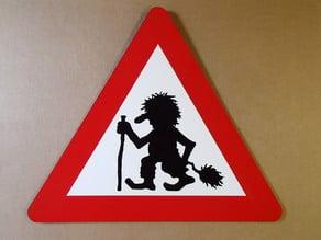 Troll Crossing Sign