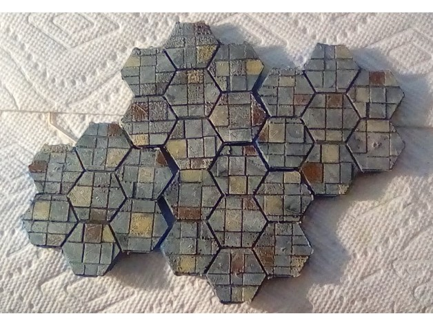 Tile-Textured Hex Terrain by mriggsby - Thingiverse