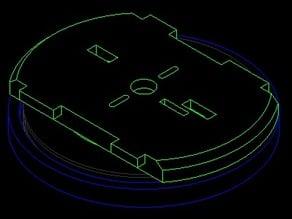 Thrust bearing base for MeArm V0.4