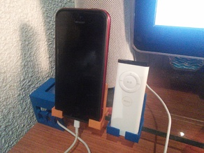 Shelf edge smartphone dock