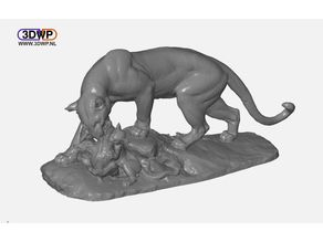 Panther Sculpture 3D Scan