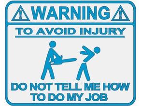 Warning Sign (Chainsaw Version)