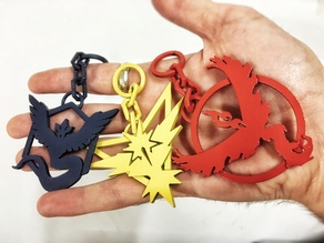 Pokemon Go Teams logo keyrings SLS REMIX