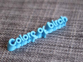 Colors of Birch 3D text Logo