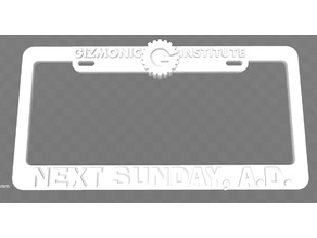 Gizmonic Institute - Next Sunday, A.D. License Plate Frame, MST3K
