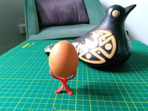 Minimalist Egg support for painting