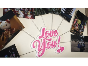 """Love You"" Photo holders"