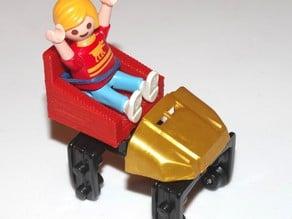 Knex roller coaster seat for Playmobil kids