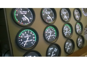 Bezel for flight simulator 39mm