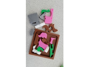 Solid Cradle for 18 Animal Puzzle