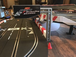 Carrera Slot car Pit lane Sign for slot car track