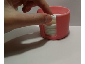Cotton wool pads container