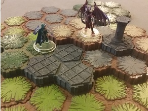 Locking Hex Terrain Stone Path