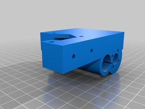 BQ prusa X-axis motor carrier -Remixed for lead screw upgrade