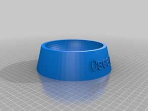 My Customized Fully Parametric Dog / Cat Food Bowl oscar