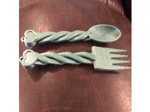 Spoon and Fork (Welsh Love Spoon Style)