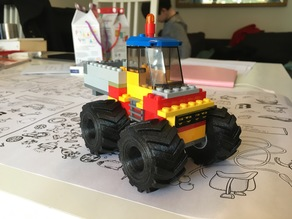 Monster truck tires for Lego rims