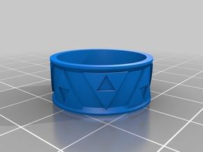 My Customized Zelhfudfckdbckdathon Recovery Triforce Bas Relief Ring