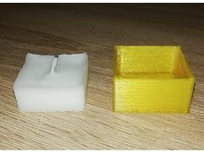Square tealight mold