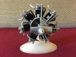 Radial engine printable