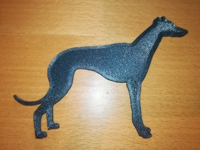 Greyhound/Whippet fridge magnet