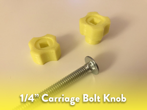 "1/4"" Carriage Bolt Knob"