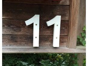 house / street numbers