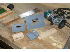 Makita RT0700 - router template for mortise and tenon (6mm router bit and 10mm collar)