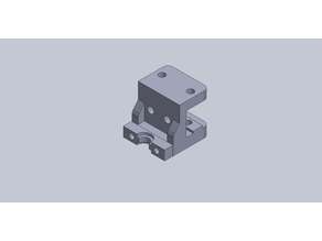 E3d V6 1.75mm Bowden hotend Bracket for MK2 short travel (there is newer version now holes for left or right)