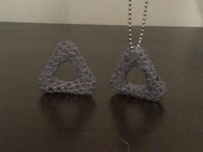 Triangular Voronoi Pendant