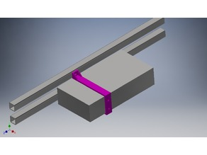 Power supply 2020 aluminum profile mount