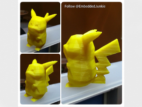 Low-Poly Pikachu Pokemon