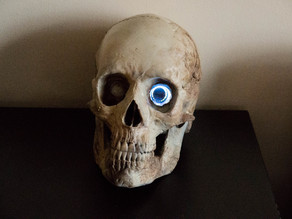 Human Skull for Adafruit HalloWing + PIR