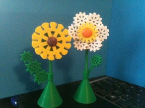 Gear Flowers (pins, magnets, or standalone)