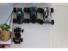 RC car holder for RC-Cars 1:18 and 1:16