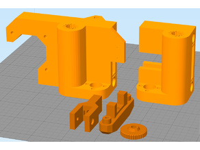 Hesine M505 Anet A8 (Prusa i3) X-Mounts incl. 8mm bearing (LM8UU) and belt tensioner
