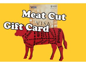 Meat Cut Gift Card Holder
