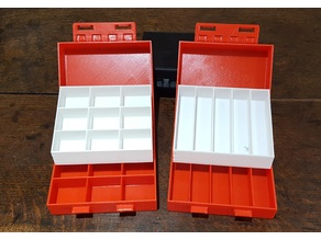 Partitioned box with trays